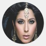 Princesa Portraits Stickers (cáscara y palillo) # Etiqueta Redonda