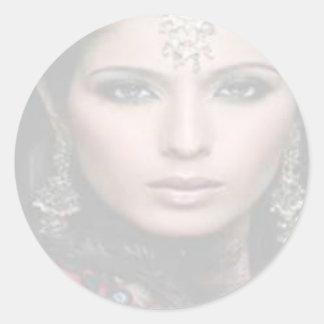 Princesa Portraits Stickers (cáscara y palillo) # Pegatina Redonda