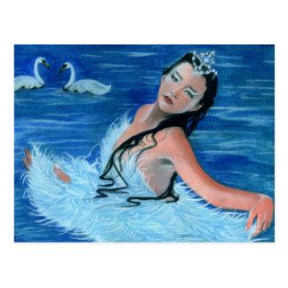 Princesa Postcard del lago swan Postal