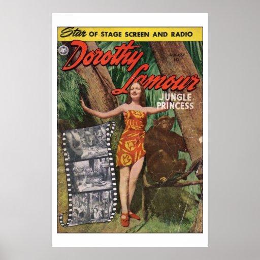 Princesa Poster de la selva de Dorothy Lamour