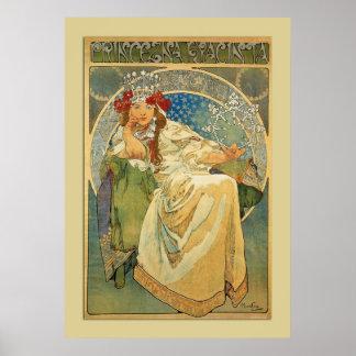 Princesa Poster de Nouveau Mucha del vintage Póster