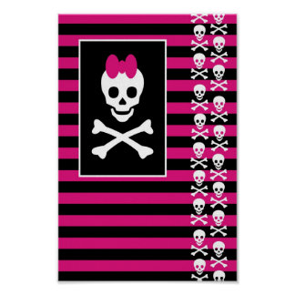 Princesa Poster del cráneo de Emo