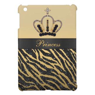 Princesa Printed Crown del oro y brillo de la cebr
