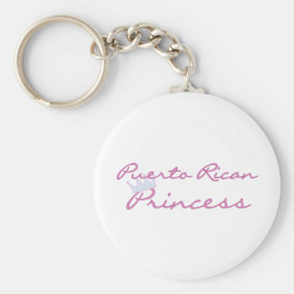Princesa puertorriqueña llavero redondo tipo pin