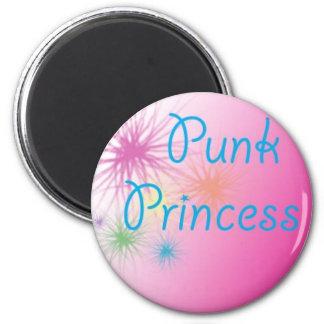 Princesa punky imán redondo 5 cm