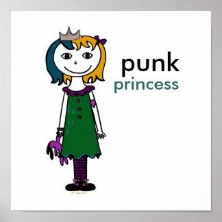Princesa punky (pelo rojo) posters