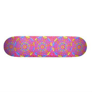 Princesa punky Pink Mandala Skateboard del patín