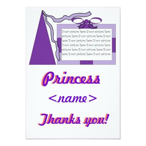 Princesa Purple/gorra púrpura cualquier fiesta de Comunicados Personales