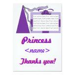 Princesa Purple/primer Th de la fiesta de Invitaciones Personalizada