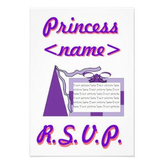 Princesa Purple segunda fiesta de cumpleaños del g Anuncio Personalizado
