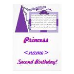 Princesa Purple/segunda fiesta de cumpleaños del g Invitación Personalizada