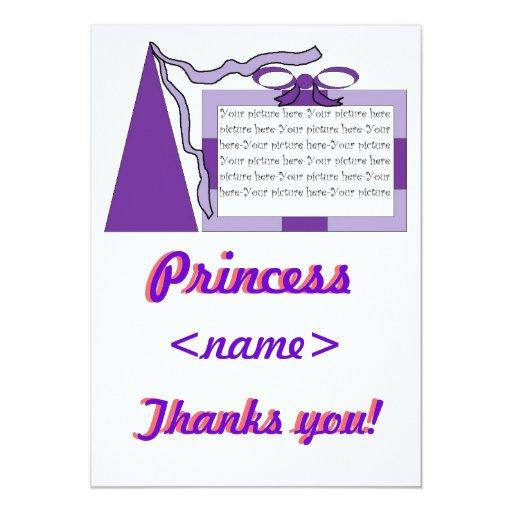 """Princesa Purple/tercer Th de la fiesta de Invitación 5"""" X 7"""""""