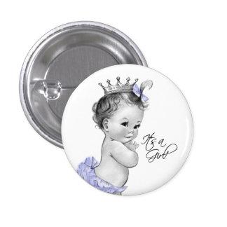 Princesa púrpura adorable Its un botón del chica Pin Redondo De 1 Pulgada