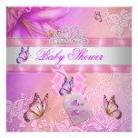 Princesa púrpura Butterfly del rosa del chica de l Invitación