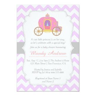 """Princesa púrpura Carriage, fiesta de bienvenida al Invitación 4.5"""" X 6.25"""""""
