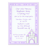 Princesa púrpura Castle Party Invitation Comunicado Personalizado