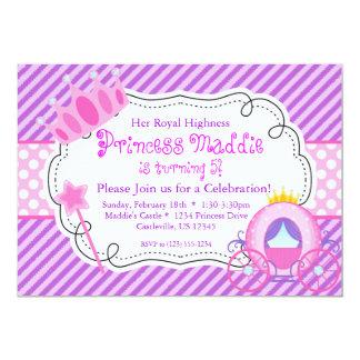 Princesa púrpura Crown y fiesta de cumpleaños del Anuncios Personalizados