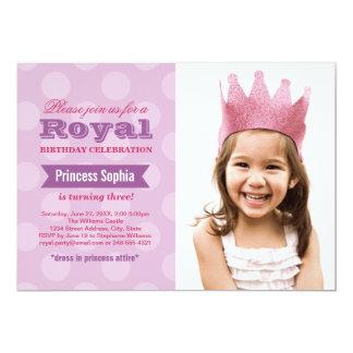 Princesa púrpura de la invitación el | de la
