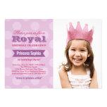 Princesa púrpura de la invitación el   de la fiest