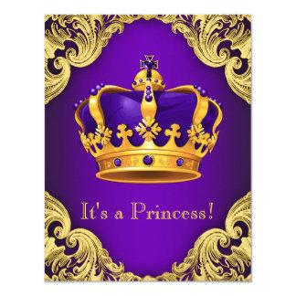 """Princesa púrpura de lujo fiesta de bienvenida al invitación 4.25"""" x 5.5"""""""