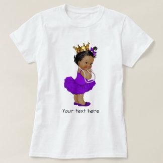 Princesa púrpura étnica Pearls del bebé de la Remeras