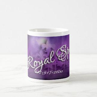 Princesa púrpura Mug del balneario real Taza Clásica