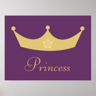 Princesa púrpura Poster de la corona del oro