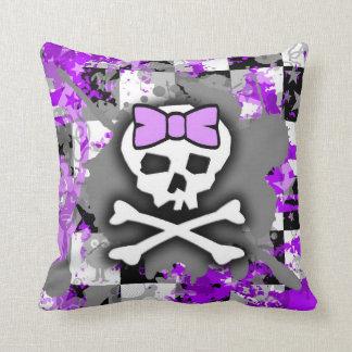Princesa púrpura Skull Pillow Cojín