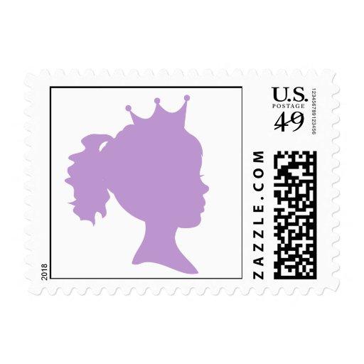 Princesa púrpura T-shirts y regalos de la silueta