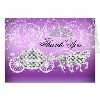Princesa púrpura Theme Thank You Card de la chispa Felicitacion