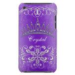 Princesa púrpura Tiara Personalized Case del damas iPod Touch Protector