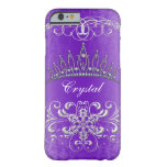 Princesa púrpura Tiara Personalized Case del Funda Barely There iPhone 6