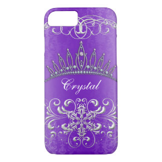Princesa púrpura Tiara Personalized Case del Funda iPhone 7