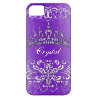 Princesa púrpura Tiara Personalized Case del Funda Para iPhone SE/5/5s