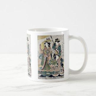 Princesa que cruza en el barco real por UtamaroII, Tazas