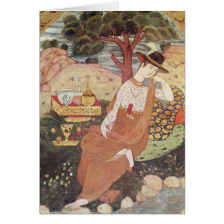 Princesa que se sienta en un jardín, dinastía de S Felicitacion