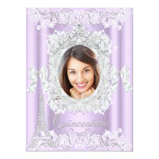 Princesa Quinceanera Purple Lace Photo grande Anuncios