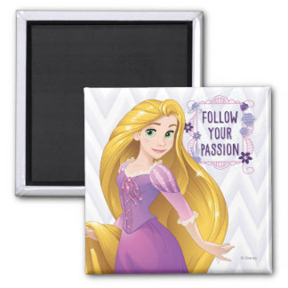 Princesa Rapunzel Imán Cuadrado