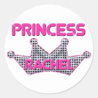 Princesa Raquel Pegatina Redonda
