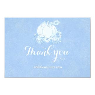 """Princesa real azul Carriage Card de Cenicienta Invitación 3.5"""" X 5"""""""