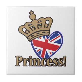 Princesa real teja cerámica