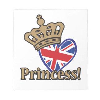 Princesa real blocs de papel