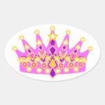 Princesa real Crown Calcomania De Ovaladas