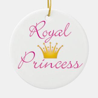 Princesa real ornamento para arbol de navidad