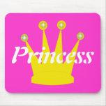 Princesa Real del oro Tapetes De Ratones