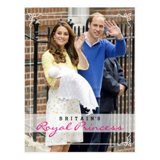 Princesa real - Guillermo y Kate Tarjetas Postales