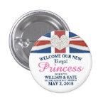 Princesa real Guillermo y Pin del recuerdo del Pin Redondo 2,5 Cm