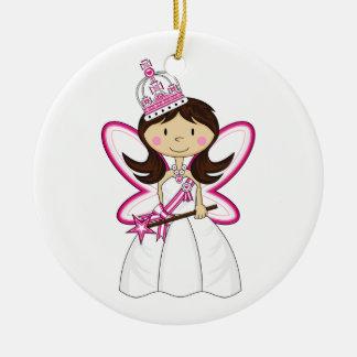 Princesa real linda Ornament Adorno Redondo De Cerámica