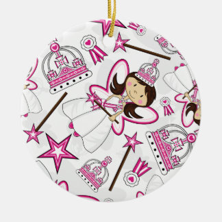Princesa real linda Pattern Ornament Ornamentos Para Reyes Magos