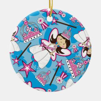 Princesa real linda Pattern Ornament Ornamente De Reyes
